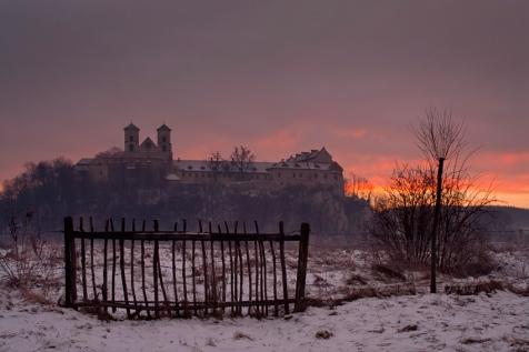 Widok na klasztor w Tyńcu z Piekar