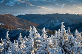Dolina Popradu zimą