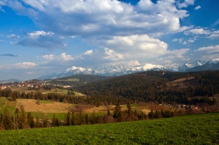 Widok z Pogórza Gliczarowskiego
