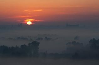 Widok z Bodzowa na Kraków