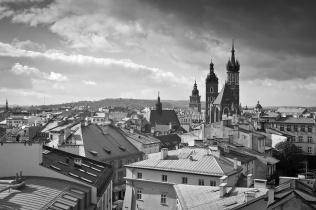 Widok na Stare Miasto w Krakowie