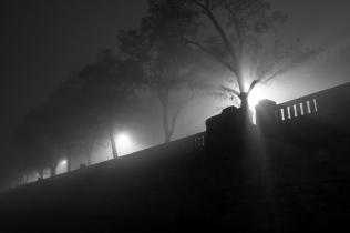 Mgła nad Wisłą w Krakowie