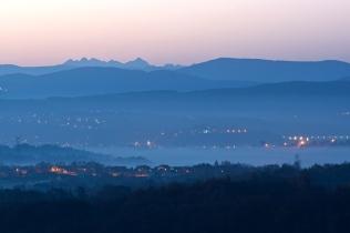 Widok na Tatry z Pogórza