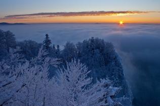 Styczniowy wschód słońca