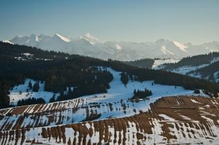 Widok z Grandeusa na Tatry